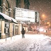 New York City - Snow  - Village East Cinema